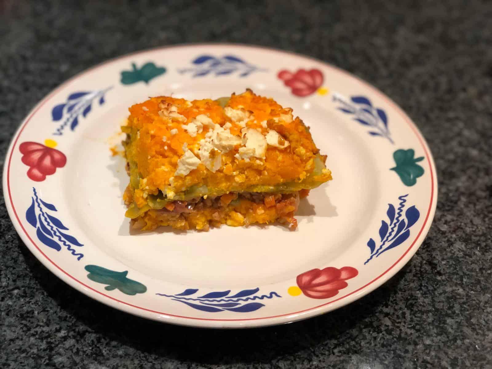 Een heerlijke pompoen lasagne met feta