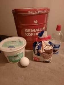 Ingrediënten mugcake